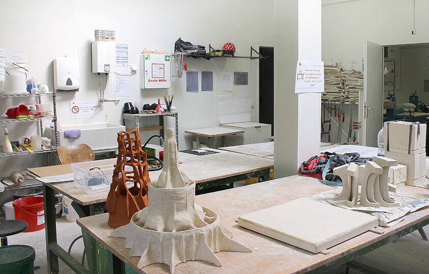 view into the ceramic workshop