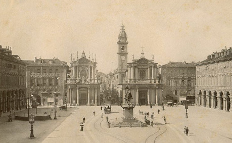 Historical photograph of Piazza San Carlo, Turin