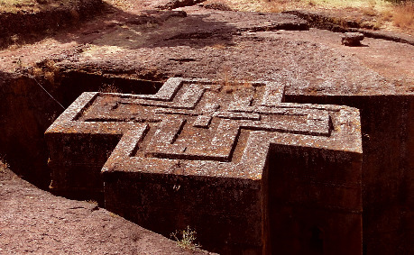 Monolithic church in Lalibela