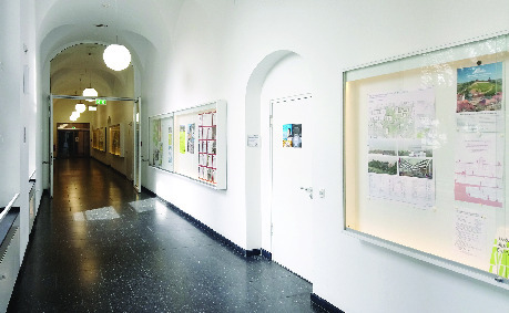Hallway of the institute