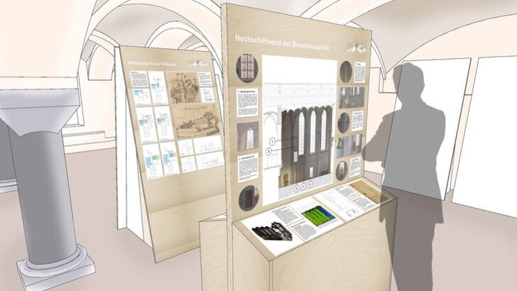 Visualization of the view into the exhibition space