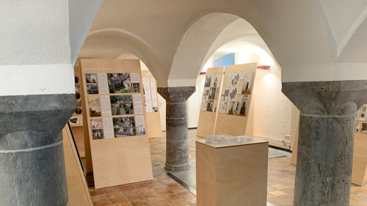 View into the exhibition space