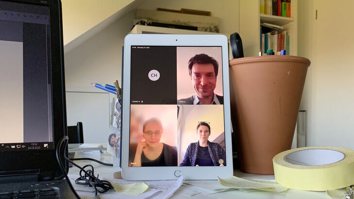Videochat des AGes-Teams
